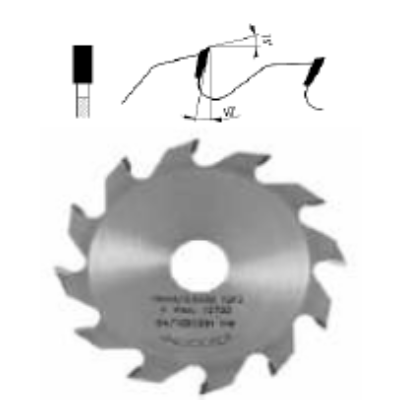 Nútmaró körfűrészlap D:180x6x3,5x30 Z=16