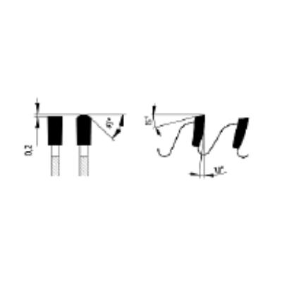 Zajcsillapított lapszabász körfűrészlap D:200x3,2x2,2x30 Z=72