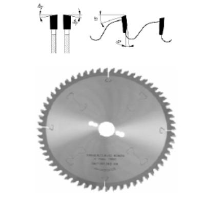Gérvágó körfűrészlap D:250x2,8x1,8x30 Z=60