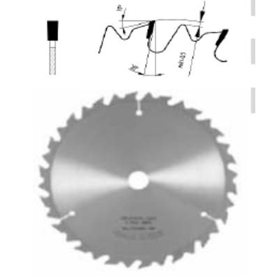 Hosszvágó körfűrészlap D:300x3,6x2,5x30 Z=18