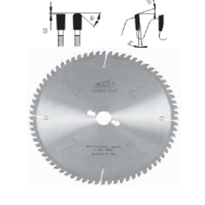 Alumíniumvágó körfűrészlap D:500x4x2,8x30 Z=120