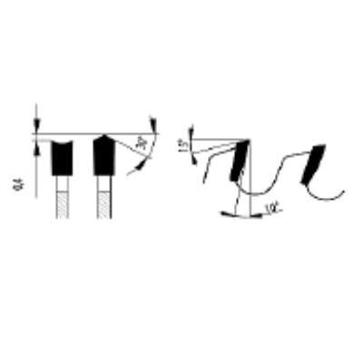 Zajcsillapított lapszabász körfűrészlap D:220x3,2x2,2x30 Z=42