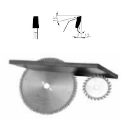 Elővágó körfűrészlap D:125x2,8-3,6xx20, 22 Z=12+12